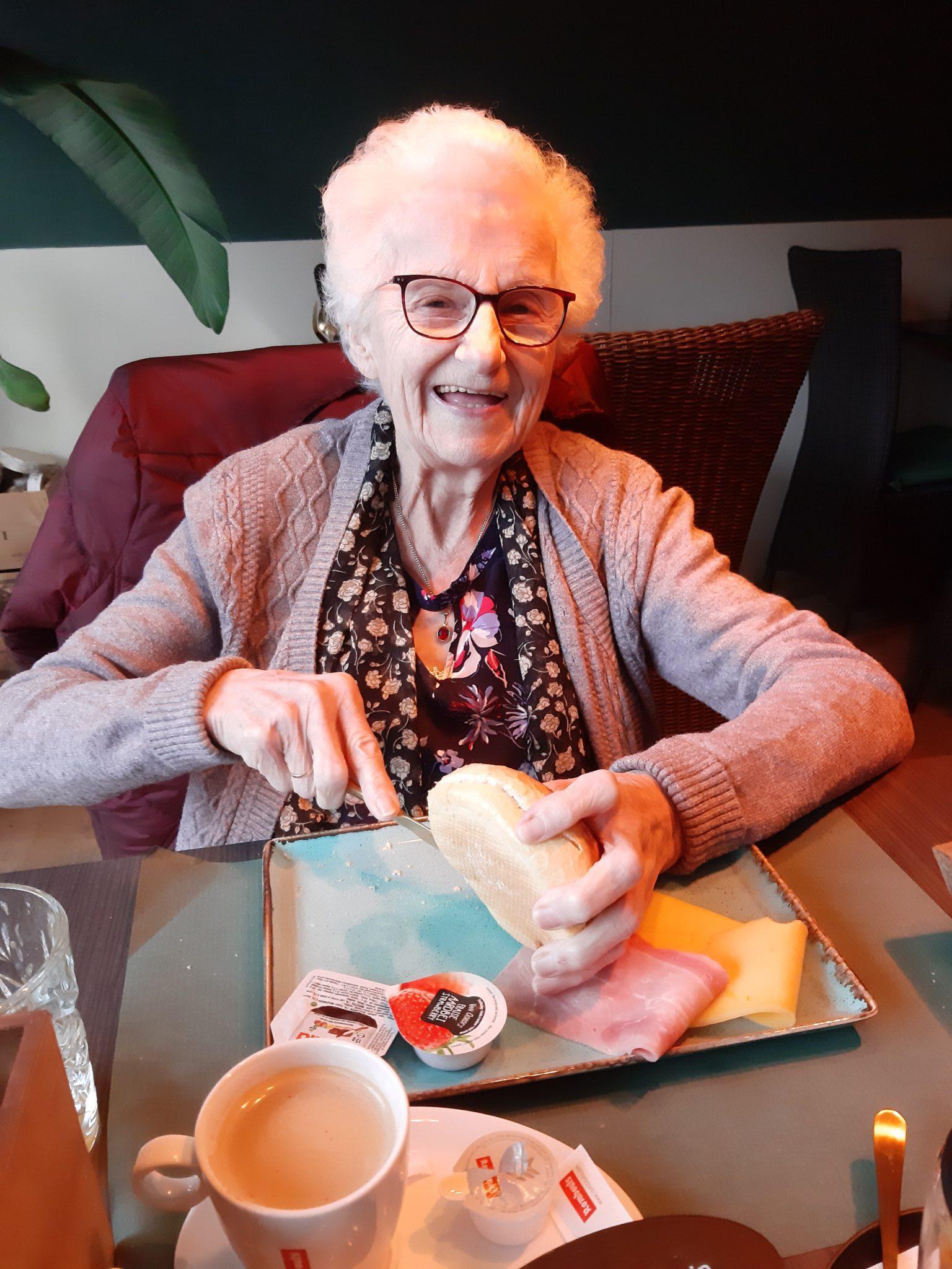Martha won een ontbijt