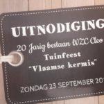 Uitnodiging tuinfeest WZC Cleo