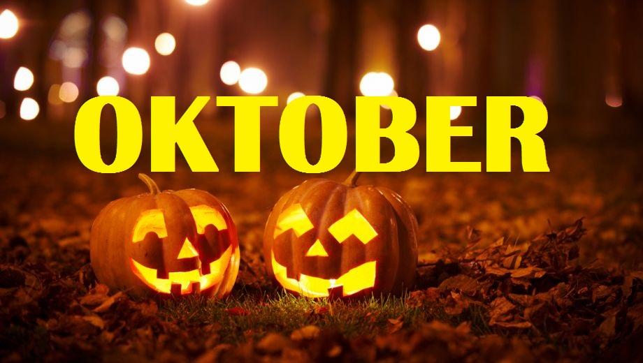 Evenementenprogramma Oktober 2018
