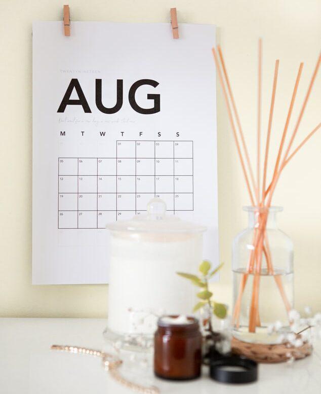 Activiteitenprogramma augustus 2020