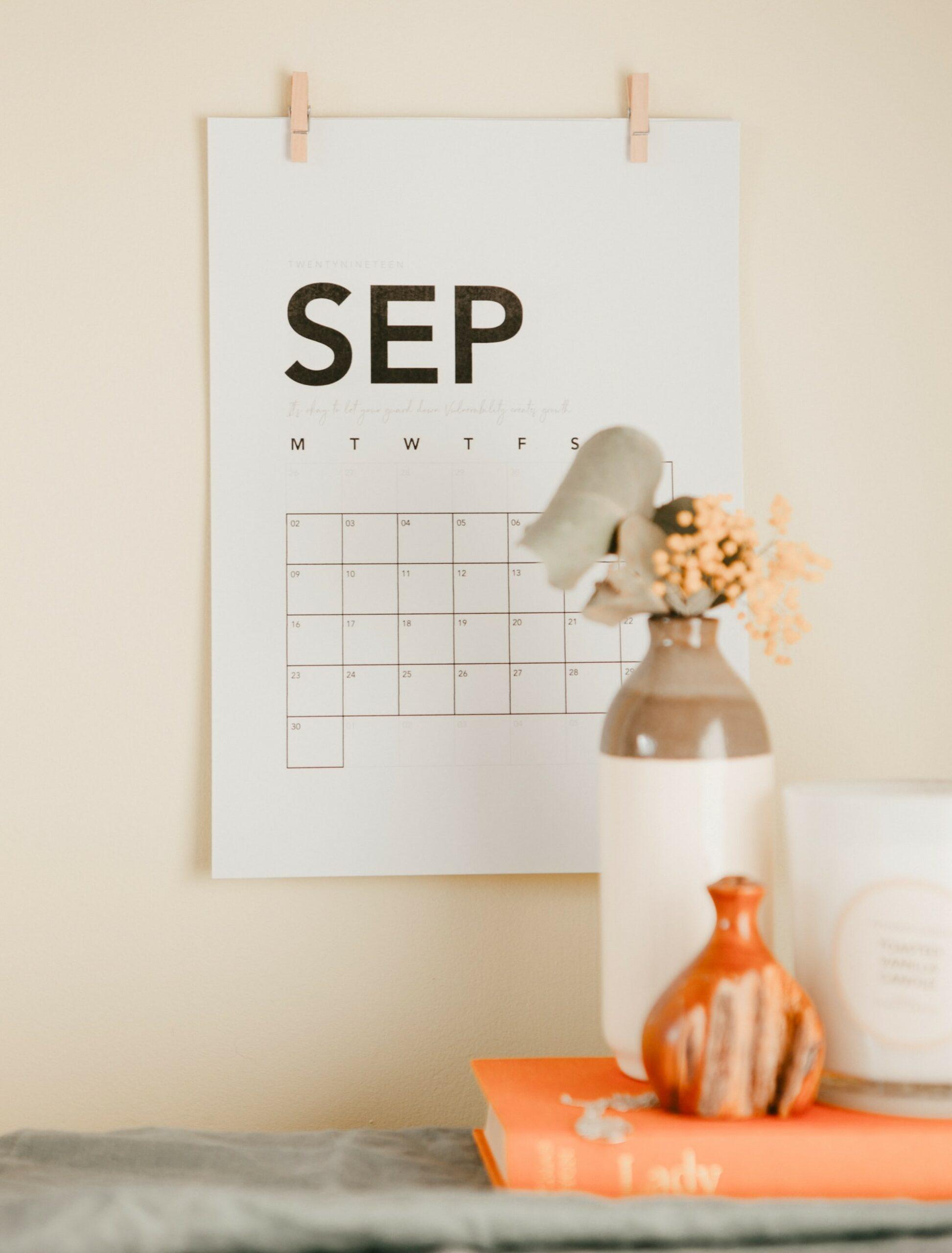 Activiteitenprogramma september 2020
